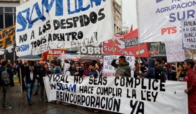Trabajadores de SIAM cortaron Puente Pueyrredón