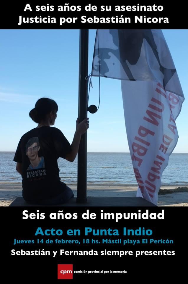 En Punta Indio sigue el reclamo de justicia por Sebastián Nicora